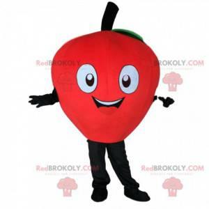 Mascot red apple, giant, cherry costume, giant fruit -