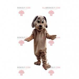 Brązowy pies maskotka, kostium pieska, przebranie psa -