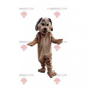 Brown dog mascot, doggie costume, canine disguise -