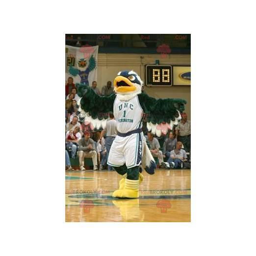 Eagle mascot green blue and white - Redbrokoly.com