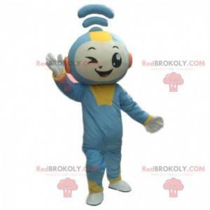 Maskot WiFi, kostým připojeného sněhuláka, kostým Internet -