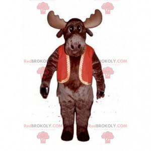 Caribou maskot, stor rein, hjort maskot - Redbrokoly.com