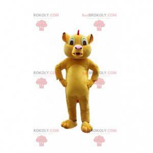"""Mascotte Simba, famoso leone del cartone animato """"Il re leone"""""""