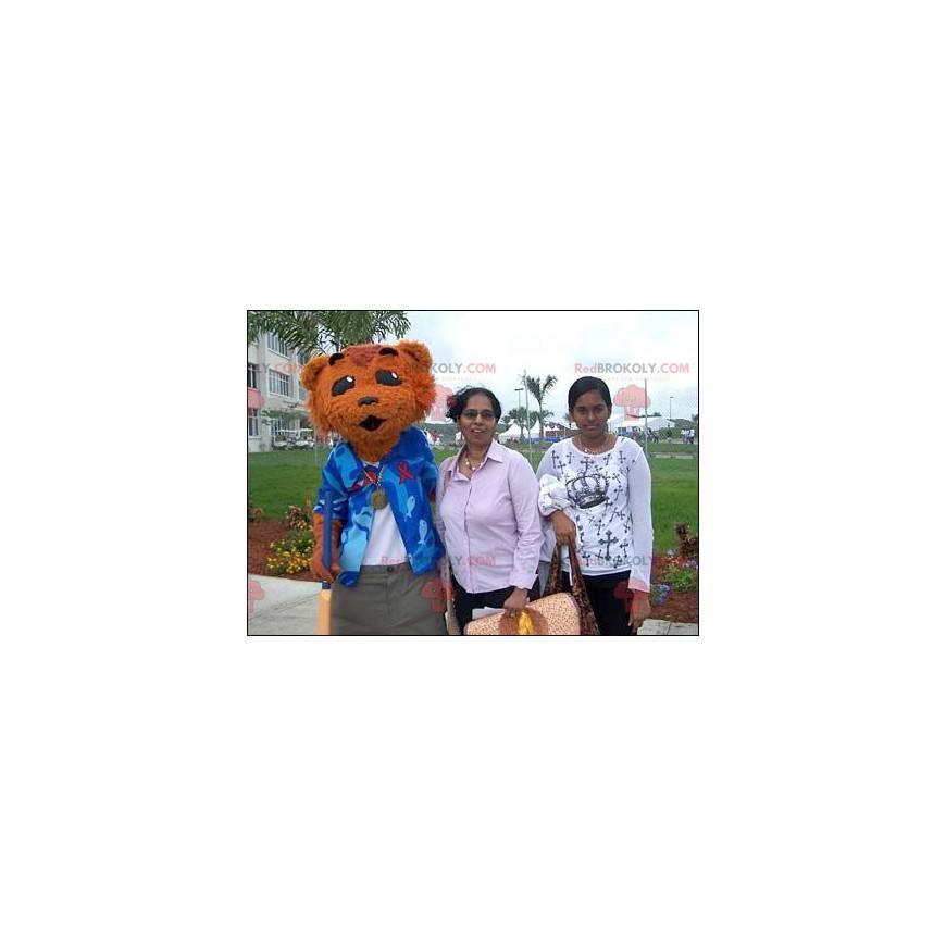 Brown bear cat mascot - Redbrokoly.com