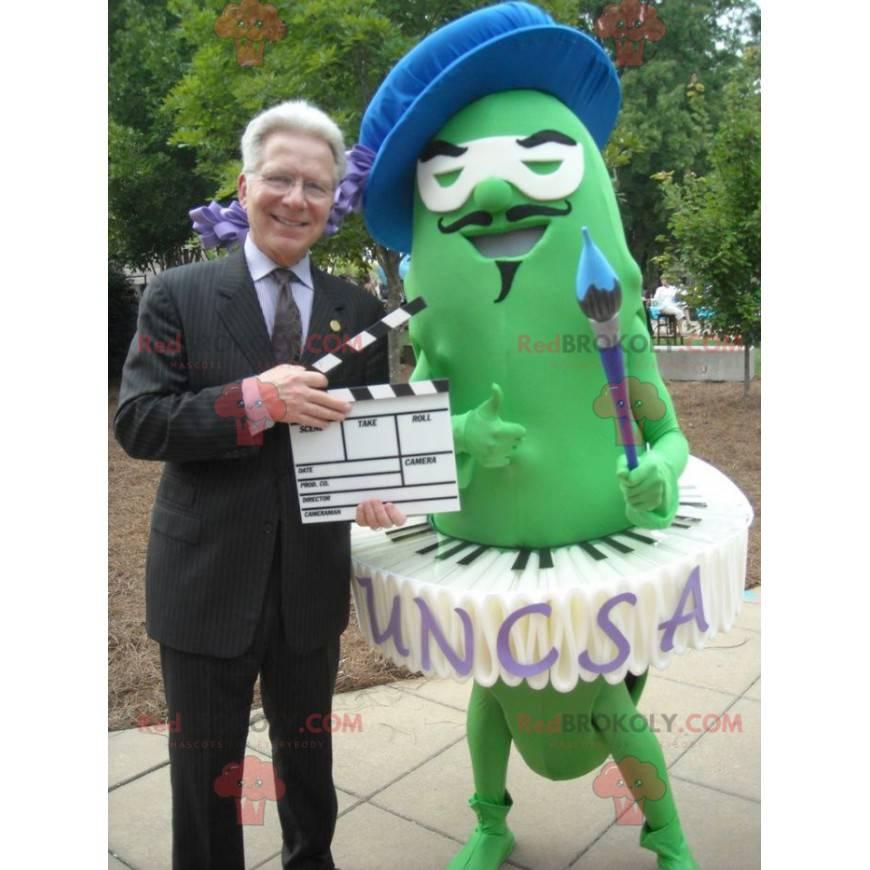 Umělec malíř maskot zelené fazole - Redbrokoly.com