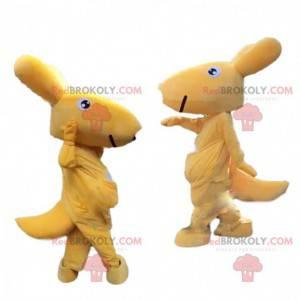 Kangaroo mascot, disguise of Australia, yellow animal -