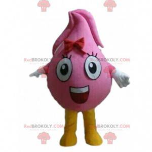 Pink drop mascot, giant droplet costume - Redbrokoly.com