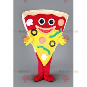 Gigantisk pizza skive maskot - Redbrokoly.com
