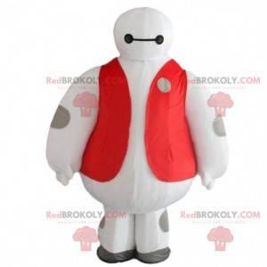 White robot mascot, big futuristic character - Redbrokoly.com