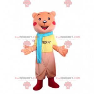 Orange Teddybär Maskottchen, Orange Bär Kostüm - Redbrokoly.com