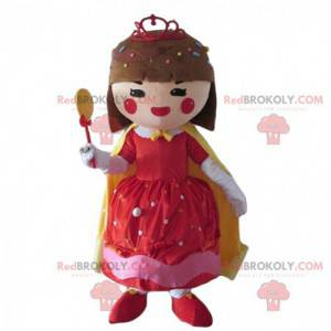 Girl mascot dressed with candy, candy costume - Redbrokoly.com