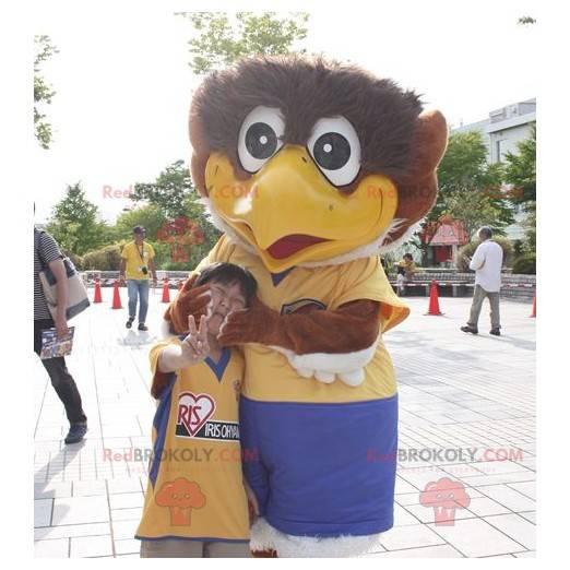 Giant brown and white bird mascot - Redbrokoly.com