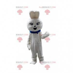 Weißes Kaninchenmaskottchen, Kaninchenkostüm, Nagetierkostüm -