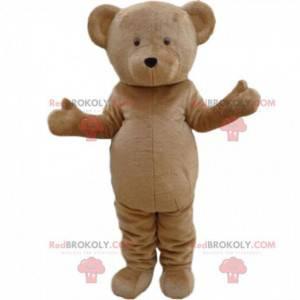 Maskot béžového medvěda, přizpůsobitelný. Medvědí kostým -