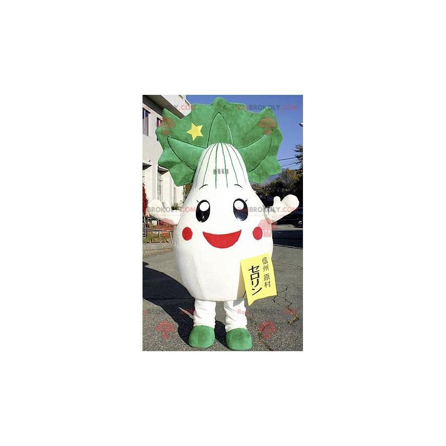 Giant leek onion turnip mascot - Redbrokoly.com