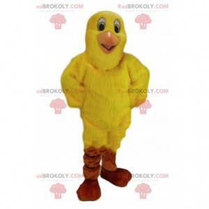 Kanárský maskot, kostým žlutého ptáka, obří pták -