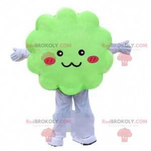 Zelený mrak maskot, zelený kostým, převlek stromu -