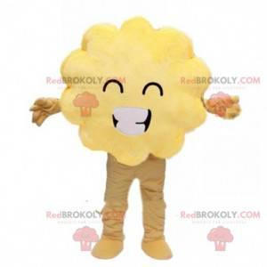 Mascot yellow cloud, yellow costume, yellow shrub -