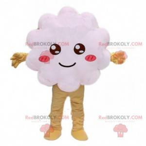 Maskot bílý oblak, bílý kostým, bílý keř - Redbrokoly.com