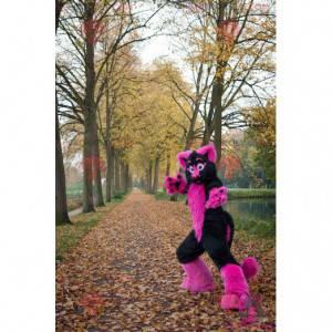 Pink and black cat mascot - Redbrokoly.com