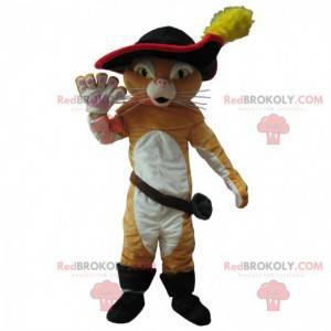 Kocour v botách maskot, slavná mazaná kočka, rytířský kostým -