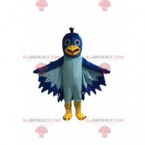 Taubenmaskottchen, blaues Vogelkostüm, Riesentaube -