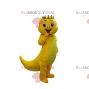 Żółta maskotka dinozaura, żółty kostium smoka - Redbrokoly.com