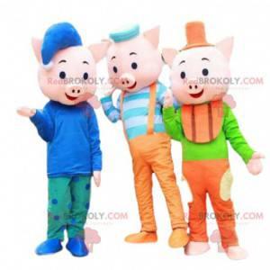 "Maskoti ""Tři prasátka"", 3 kostýmy prasat - Redbrokoly.com"