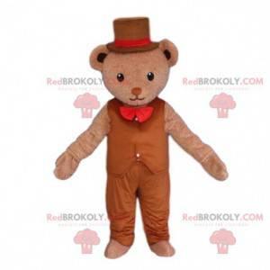 Elegantní medvěd maskot, kostým medvídka - Redbrokoly.com