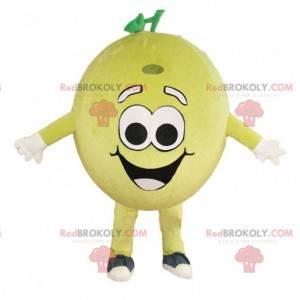 Inflatable lemon mascot, giant yellow fruit costume -
