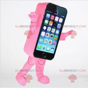 Rosa smarttelefon maskot, mobiltelefon kostyme - Redbrokoly.com