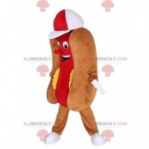 Maskot hot dog, kostým rychlého občerstvení, obří hot dog -