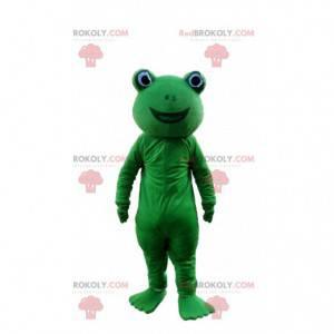 Green frog mascot, green toad costume - Redbrokoly.com