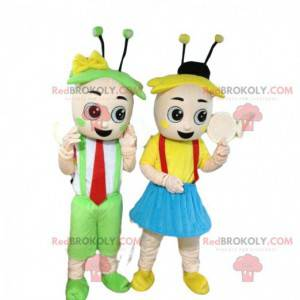 Jungen- und Mädchenmaskottchen, Frühlingskostüme -