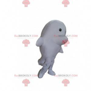 Maskot bílého delfína, kostým obří ryby - Redbrokoly.com