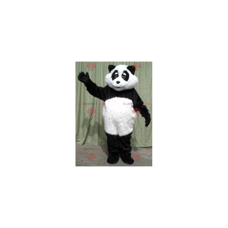 Svart og hvit panda maskot - Redbrokoly.com