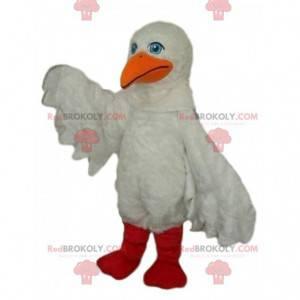 Zeemeeuw mascotte, pelikaan kostuum, zeemeeuw kostuum -
