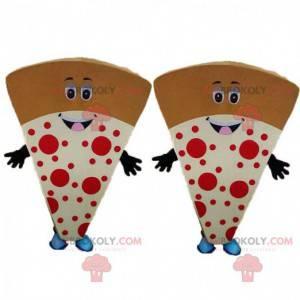 2 fette di pizza giganti, 2 costumi da pizza giganti -