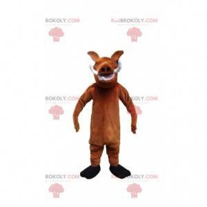 """Maskot Pumbaa, slavný prase bradavičnaté z filmu """"Lví král"""" -"""