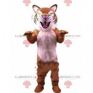 Sehr realistisches Tigermaskottchen, das wildes, gefährliches