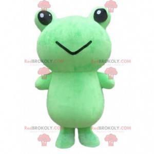 Stor grønn froskmaskot, froskedrakt - Redbrokoly.com