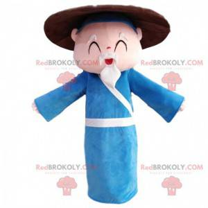 Asian old man mascot, grandpa costume - Redbrokoly.com
