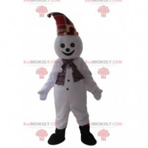 Maskot sněhuláka, usmívající se kostým - Redbrokoly.com