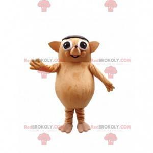 Mascote de ouriço marrom, fantasia de toupeira gigante -