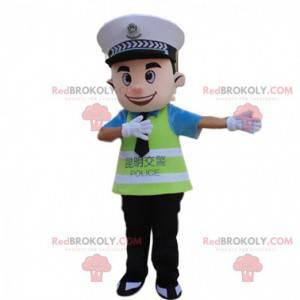 Maskot policisty, kostým ASVP, policejní uniforma -