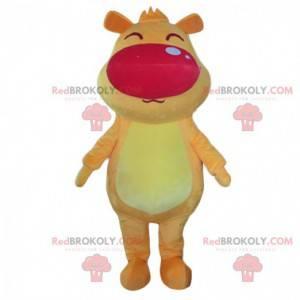 Big yellow and orange dog mascot, giant doggie costume -