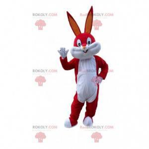 Mascotte Red Bugs Bunny, het beroemde Looney Tunes-konijntje -