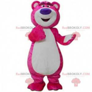 Mascote Lotso, o famoso urso de pelúcia rosa do filme Toy Story