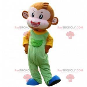 Gigantyczna i kolorowa małpka maskotka, mały kostium małpki -