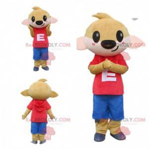 Maskot srny, plavá, malý hnědý zvířecí kostým - Redbrokoly.com